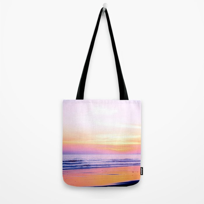 Pink Sunset Beach Tote Bag