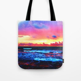 Scenic Shoreline Sunrise Tote Bag