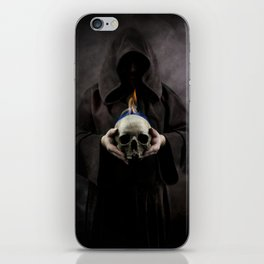 Skull on fire iPhone Skin