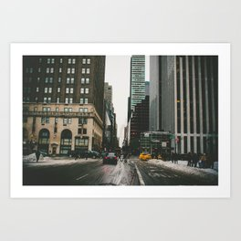 Winter In the Streets Art Print