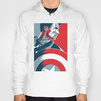 avenger Hoodies featuring The First Avenger by Olivia Desianti