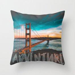 ADVENTURE San Francisco Throw Pillow