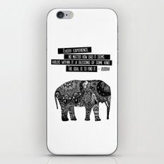 Blessing Buddha Quote iPhone & iPod Skin