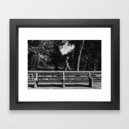 Park Slope Stroll Framed Art Print