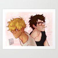johannathemad Art Prints featuring this was a twitter banner buuut... by JohannaTheMad