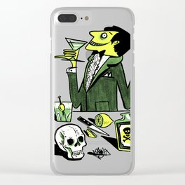 Drinks With The Mad Scientist Next Door Clear iPhone Case