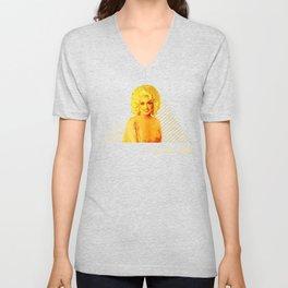 Dolly Parton Retro Gold Unisex V-Neck