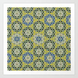 Flower of Life Pattern 28 Art Print