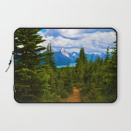 Maligne Lake from Above on the Bald hills hike in Jasper National Park, Canada Laptop Sleeve