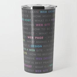 Colored Web Design Keywords Travel Mug