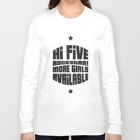 gta v Long Sleeve T-shirts featuring HI FIVE ROCKSTAR (GTA V) by Radu Negara
