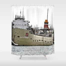 Freighter in Tow Shower Curtain