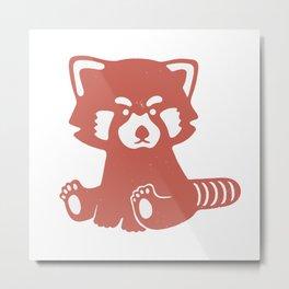 Red Panda Boi Metal Print
