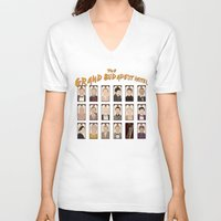 budapest hotel V-neck T-shirts featuring THE GRAND BUDAPEST HOTEL by Kaitlin Smith