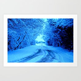 Winter in the Cotswolds Art Print