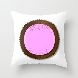 Chocolate Box Strawberry Throw Pillow