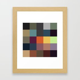 Pixel Patchwork Kappa Framed Art Print