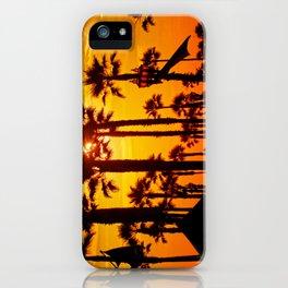 HB Pier Plaza Palms iPhone Case