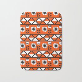 Shapes and flowers Bath Mat