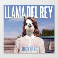 lana del rey Canvas Prints featuring Llama Del Rey by Creatmaker