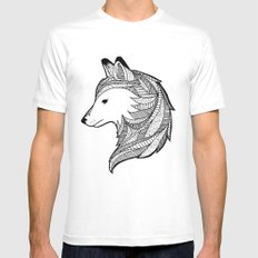 Wolf White MEDIUM Mens Fitted Tee