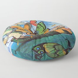 Salvador Dalí - Ship with butterfly sails Floor Pillow
