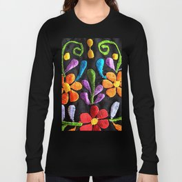 Mexican Flowers Long Sleeve T-shirt