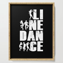 Line Dance Line Dancing Country Rodeo Dancer Gift Serving Tray