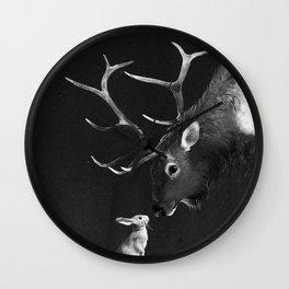 Elk and Rabbit Wall Clock