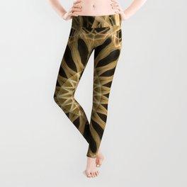 Mandala in light brown tones Leggings