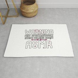 Warning May Spontaneously Start Talking About ASMR Tingles Rug