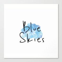 Blue Skies Time Canvas Print