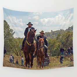 Weary Union Soldiers Wall Tapestry