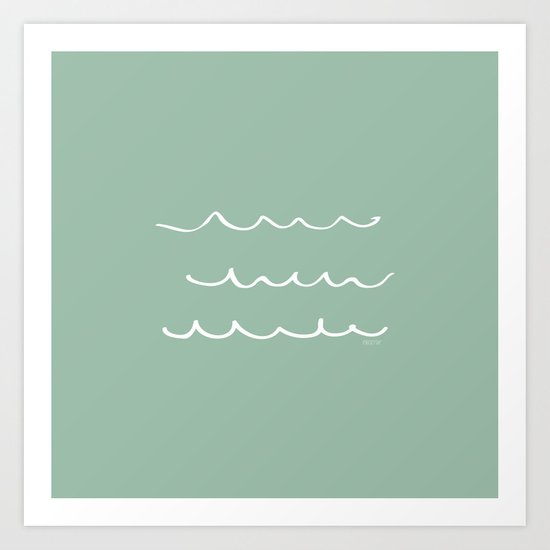 Water - Minimal FS - by Friztin Art Print