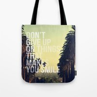 quotes Tote Bags featuring QUOTES by magdam