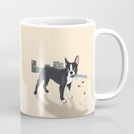 Attack of the Colossal Boston Terrier!!! Coffee Mug