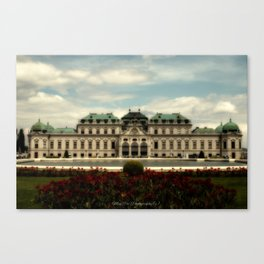 Belvedere Vienna City Canvas Print