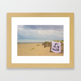 You Are My Vacation, The Unravel, Silk Graffiti by Aubrie Costello Framed Art Print