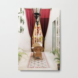 Colonial Style Tea Room in Merida, Mexico Metal Print