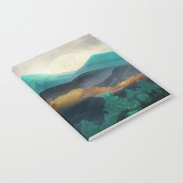 Green Wild Mountainside Notebook