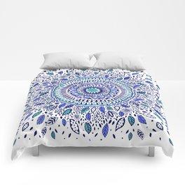 Indigo Flowered Mandala Comforters