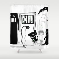 nightmare Shower Curtains featuring nightmare by leart