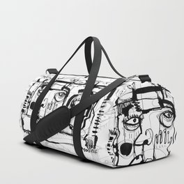 Birds on a Wire - b&w Duffle Bag
