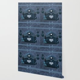 A touch of steampunk with elegant heart Wallpaper