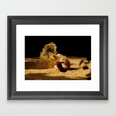Animal sandwave Framed Art Print