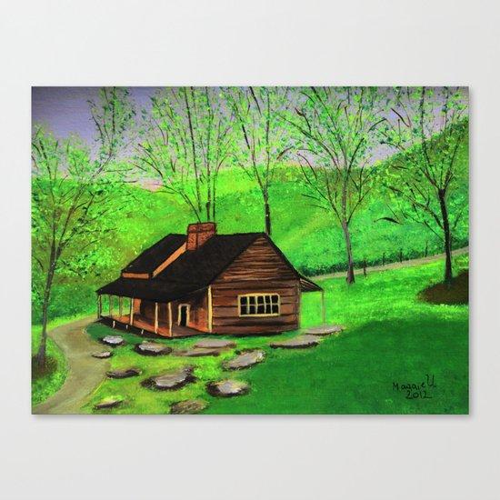 Hillside cabin Canvas Print