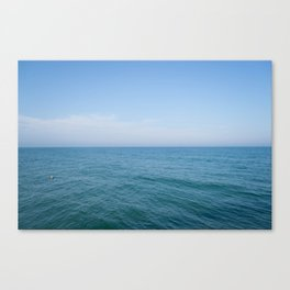 Floating to Blue Canvas Print