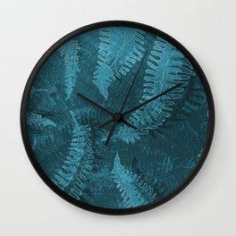 Ferns (light) abstract design Wall Clock