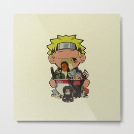 Naruto Ramen X Akatsuki Metal Print