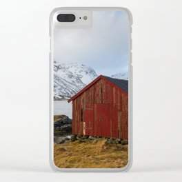 The red shed Clear iPhone Case